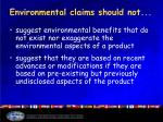 environmental claims should not