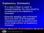 explanatory statements