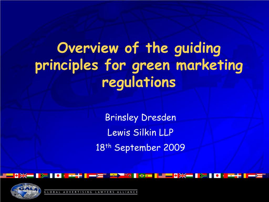 overview of the guiding principles for green marketing regulations l.