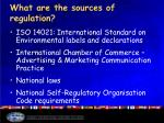 what are the sources of regulation