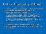 history of the falling sickness