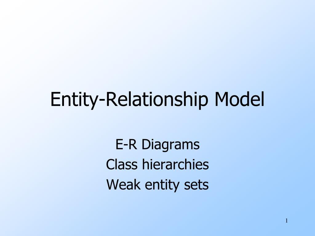 entity relationship model l.