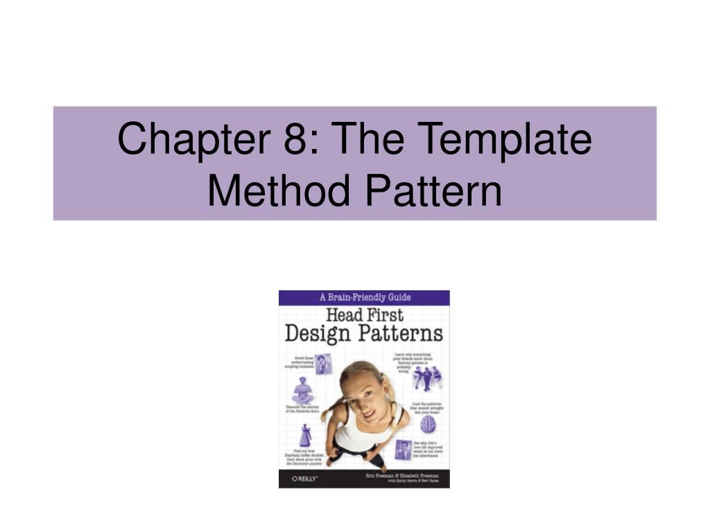 chapter 8 the template method pattern l.