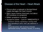 disease of the heart heart attack