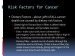 risk factors for cancer18