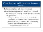 contributions to retirement accounts slide 1 of 2