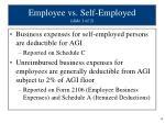 employee vs self employed slide 1 of 2