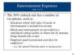 entertainment expenses slide 2 of 3