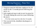 moving expenses time test slide 1 of 2