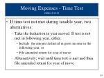 moving expenses time test slide 2 of 2