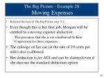 the big picture example 28 moving expenses