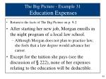 the big picture example 31 education expenses