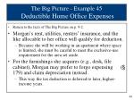 the big picture example 45 deductible home office expenses