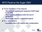 wto panel on the sugar cmo