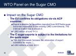 wto panel on the sugar cmo15