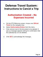 defense travel system instructions to cancel a trip47