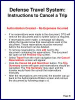 defense travel system instructions to cancel a trip48