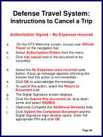 defense travel system instructions to cancel a trip49