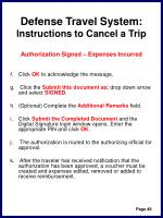 defense travel system instructions to cancel a trip51