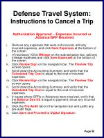 defense travel system instructions to cancel a trip53