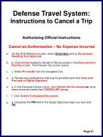 defense travel system instructions to cancel a trip54