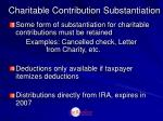 charitable contribution substantiation
