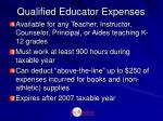 qualified educator expenses