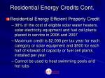 residential energy credits cont