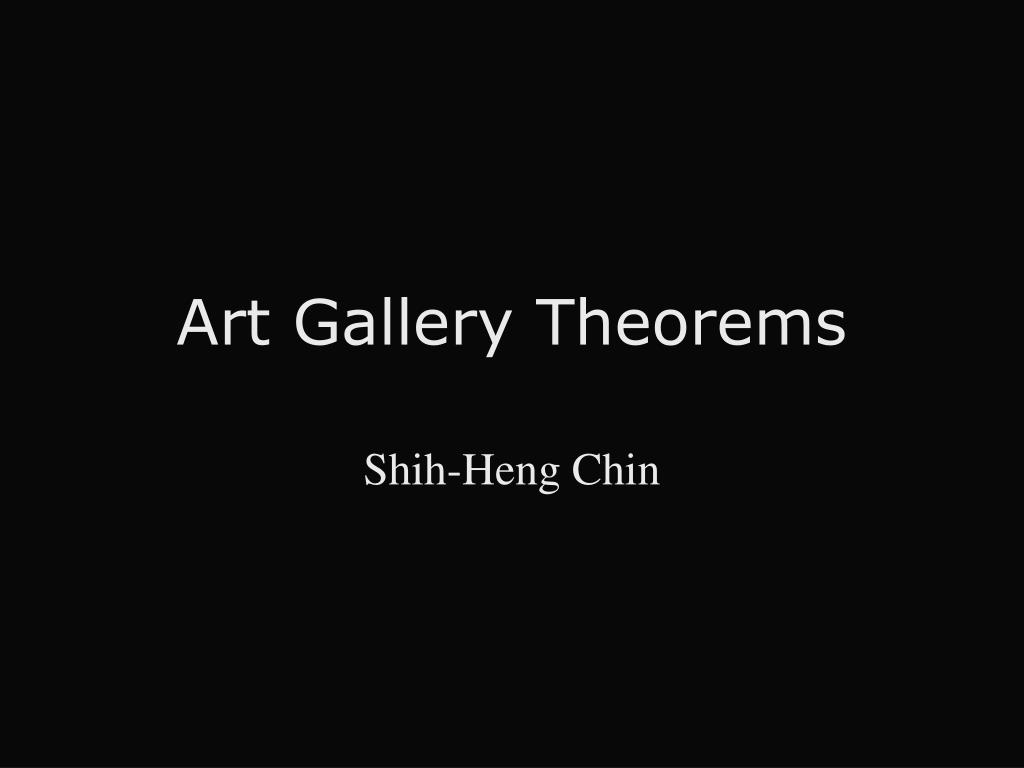 art gallery theorems l.