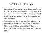 80 20 rule example