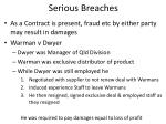 serious breaches