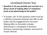 unrelated clients test40