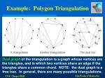 example polygon triangulation