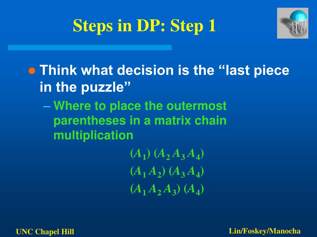 steps in dp step 1 l.