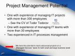 project management potential