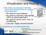 virtualization and hosting