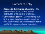 barriers to entry12