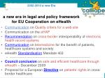 a new era in legal and policy framework for eu cooperation on ehealth