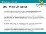ehgi main objectives
