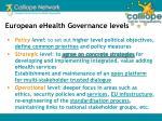 european ehealth governance levels