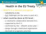 health in the eu treaty