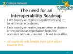 the need for an interoperability roadmap