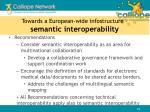 towards a european wide infostructure semantic interoperability