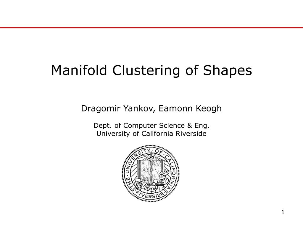 manifold clustering of shapes l.