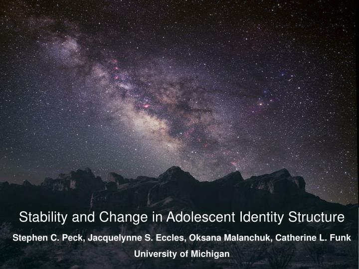 Stability and Change in Adolescent Identity Structure