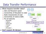 data transfer performance