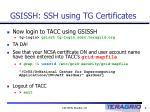 gsissh ssh using tg certificates