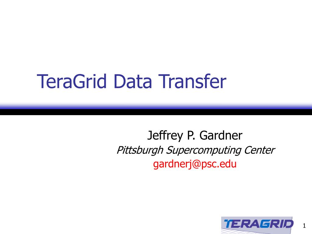 teragrid data transfer l.