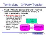 terminology 3 rd party transfer