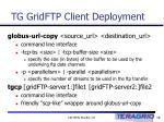 tg gridftp client deployment16